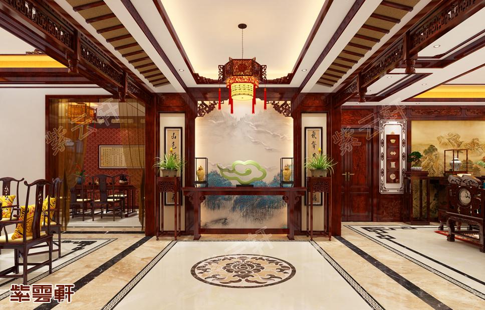 每一栋醒目的别墅中式设计都离不开门厅