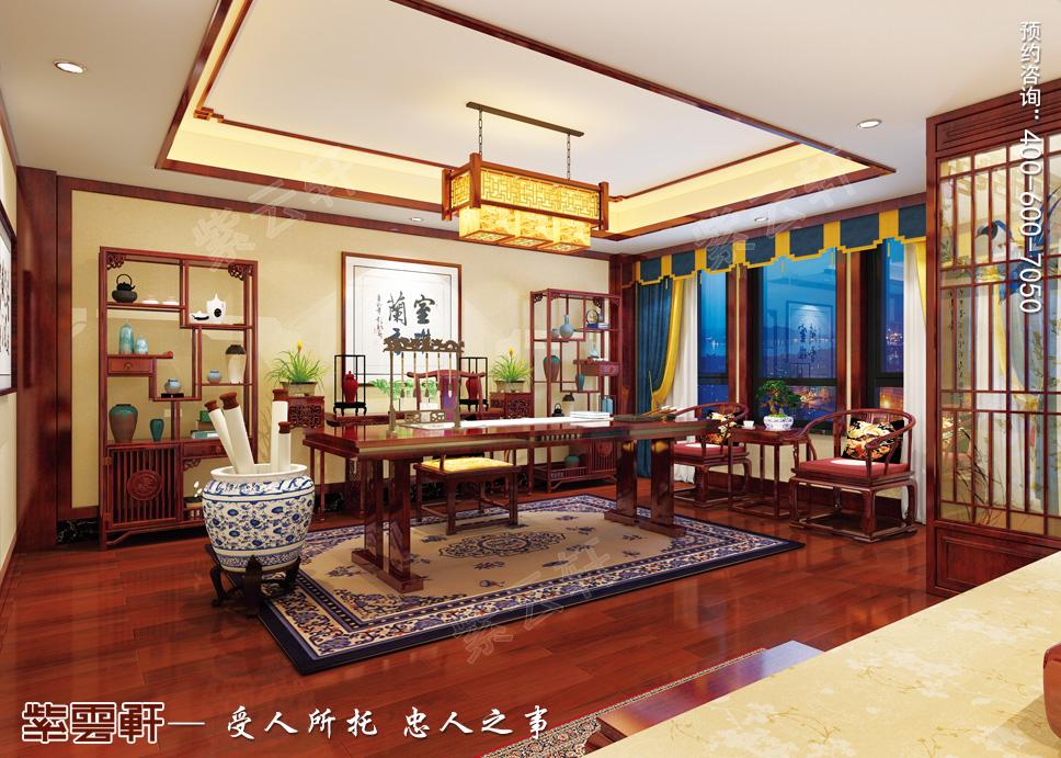藏书万卷、春水煎茶,中式装修书房让你爱不释手