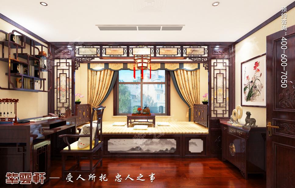高端大气的别墅中式装修中必不可少的是暖阁