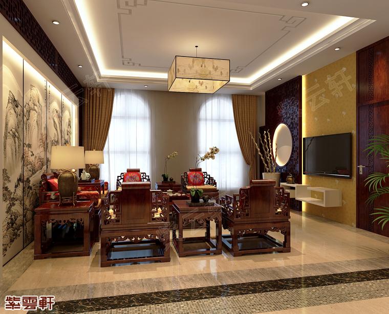 可以作为门面担当的中式装修客厅