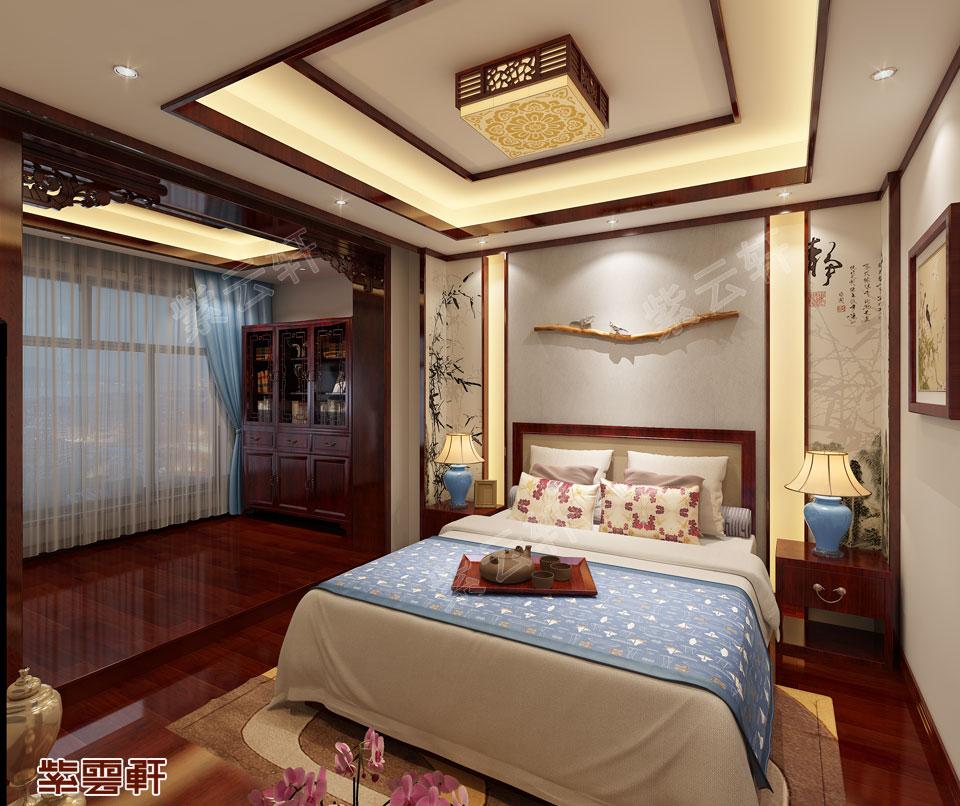中式男孩房效果图
