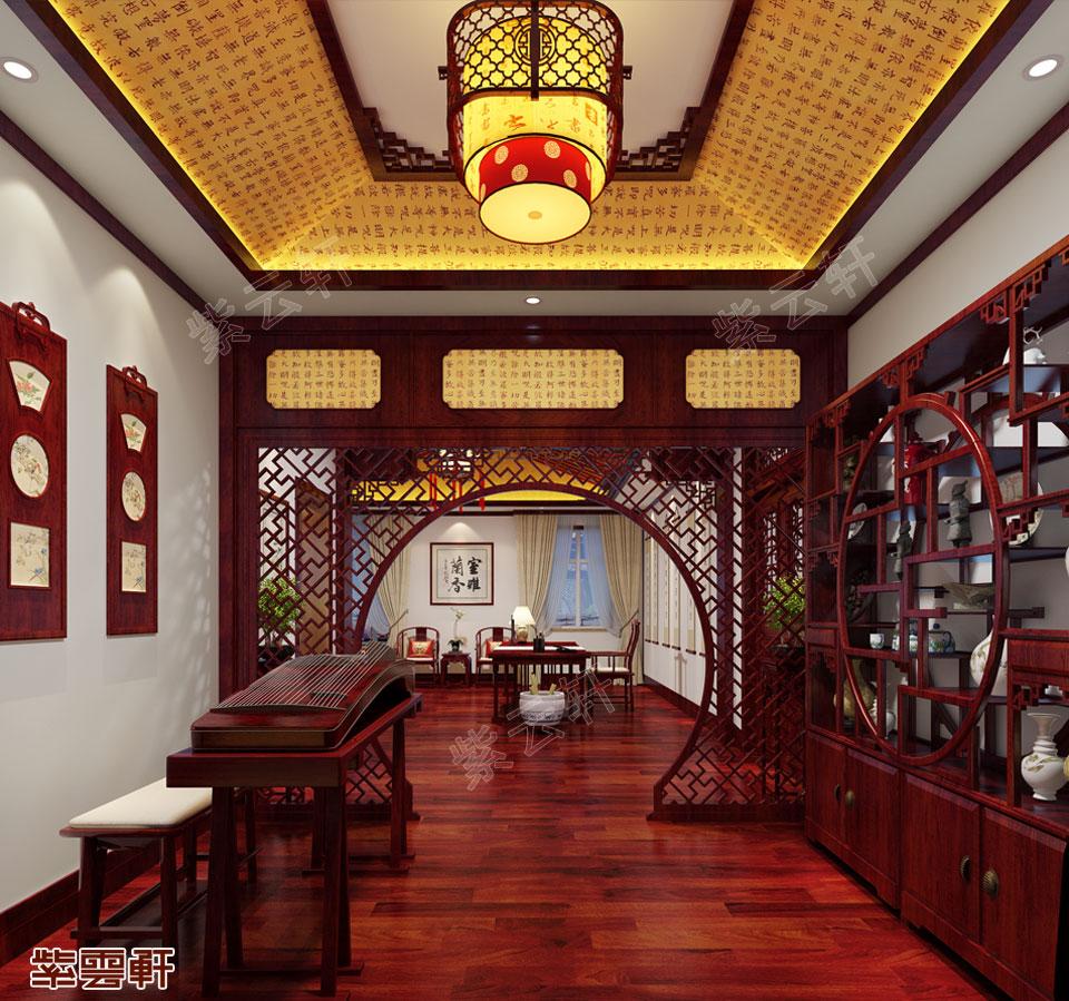 琴房中式图片