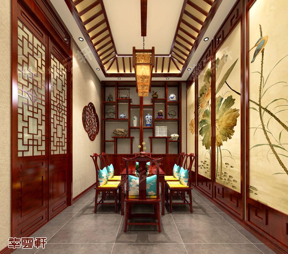 茶室中式装修效果图