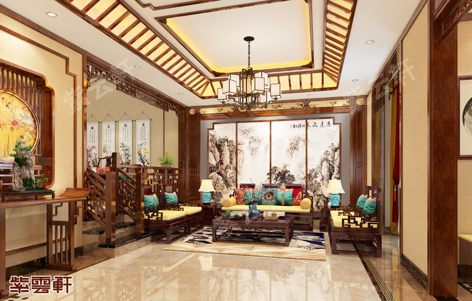 将别墅中式设计的纷彩呈现在你眼前,感受传统家具魅力