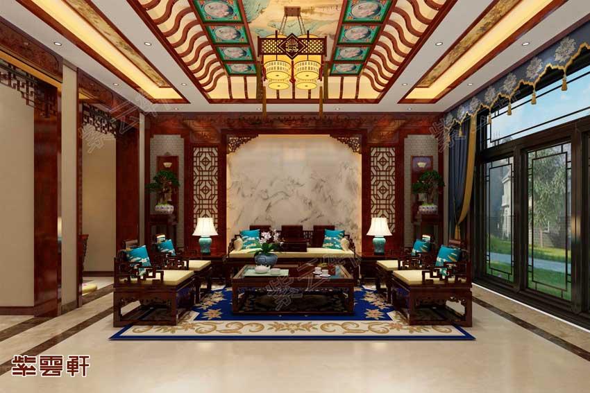 高颜值装修看着都过瘾,河南中式装修豪宅
