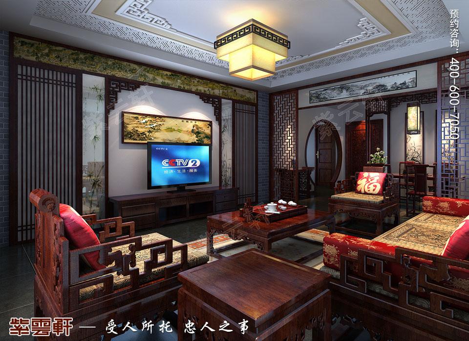 客厅新中式装修风格效果图