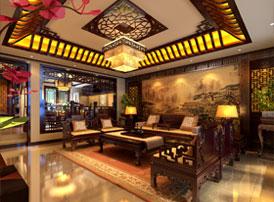 北京长安山麓顶楼复式现代中式装修效果图 于丹青水墨之间 感受浓浓中国风