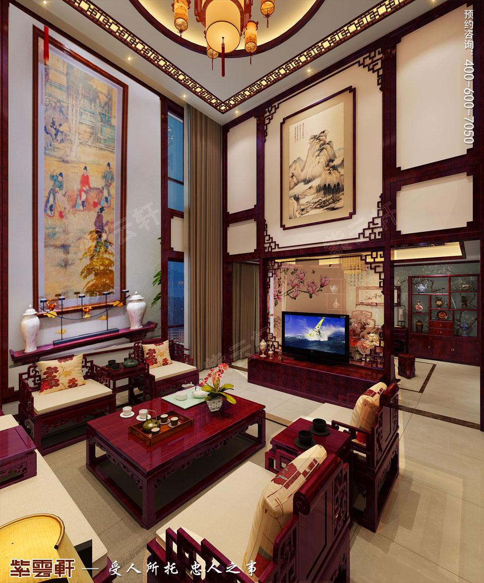 客厅古典中式风格装修图片