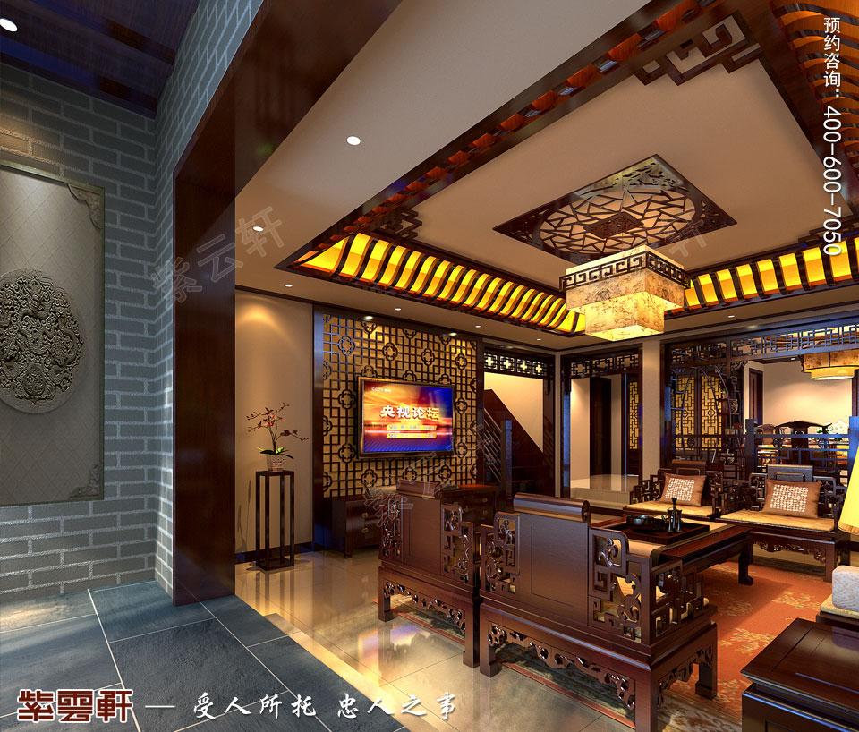 复式楼<a href=http://www.bjzyxuan.com/xiandaizhongshi/ target=_blank class=infotextkey>现代中式风格</a>客厅装修效果图