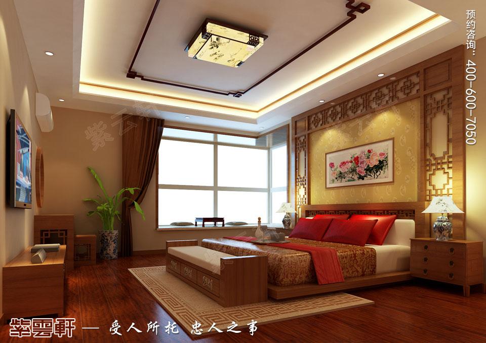 复式楼现代中式装修卧室效果图