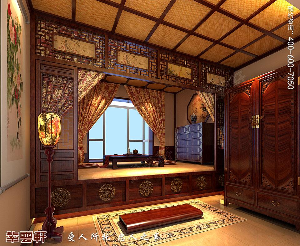 现代中式装修设计卧室效果图