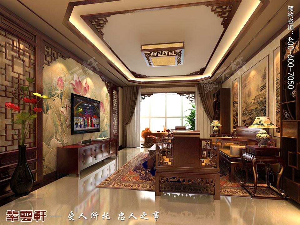 复式楼现代中式风格<a href=http://www.bjzyxuan.com/qijushi/ target=_blank class=infotextkey>起居室装修效果图</a>