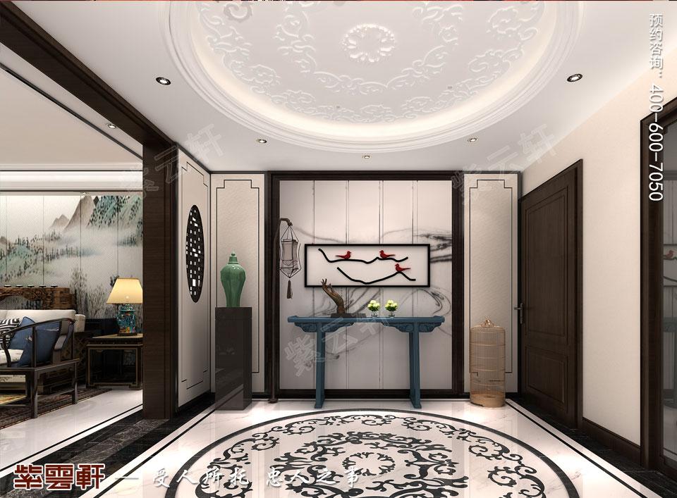 新中式复式楼门厅效果图