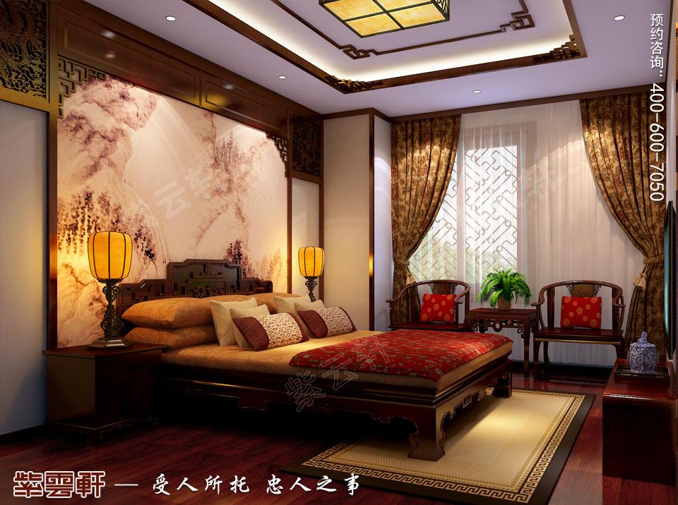 现代中式装修设计次卧效果图