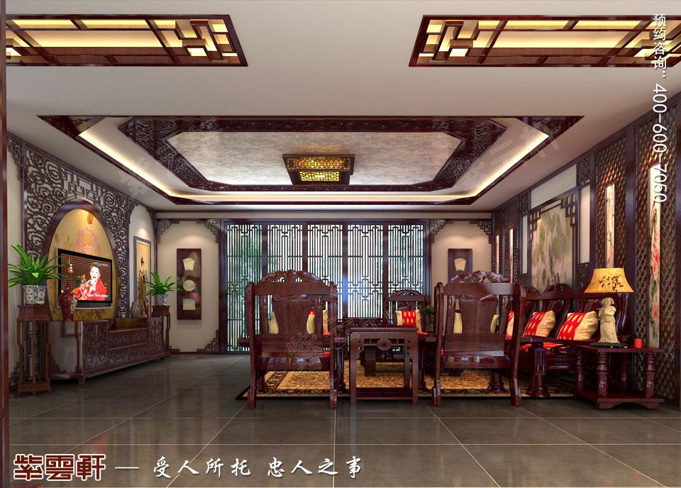 现代中式装修设计客厅效果图