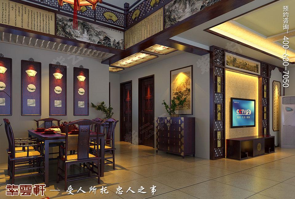 餐厅简约复古中式风格效果图