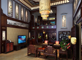 河北保定复式楼简约现代中式装修效果图 邂逅中国古典情韵