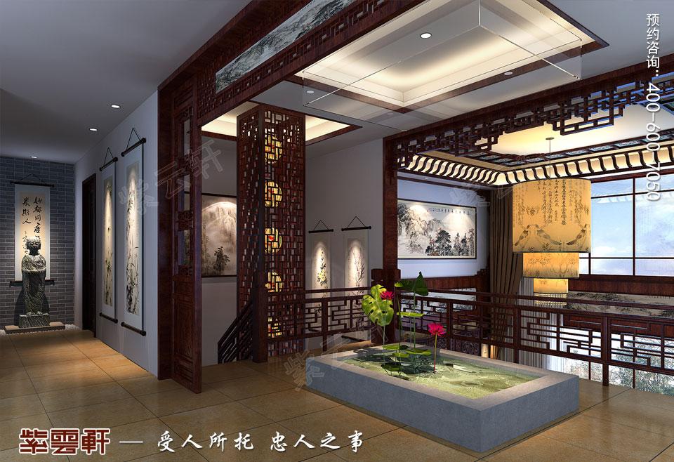 复式楼会客厅简约现代中式装修效果图