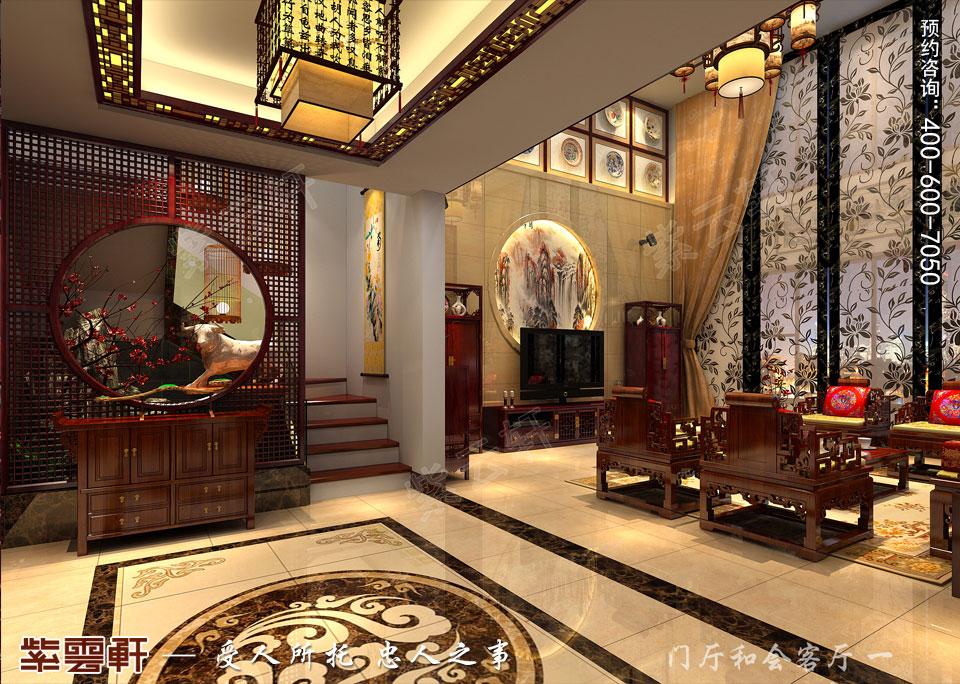 复式楼客厅<a href=http://www.bjzyxuan.com/xinzhongshi/ target=_blank class=infotextkey>新中式风格</a>装修图片