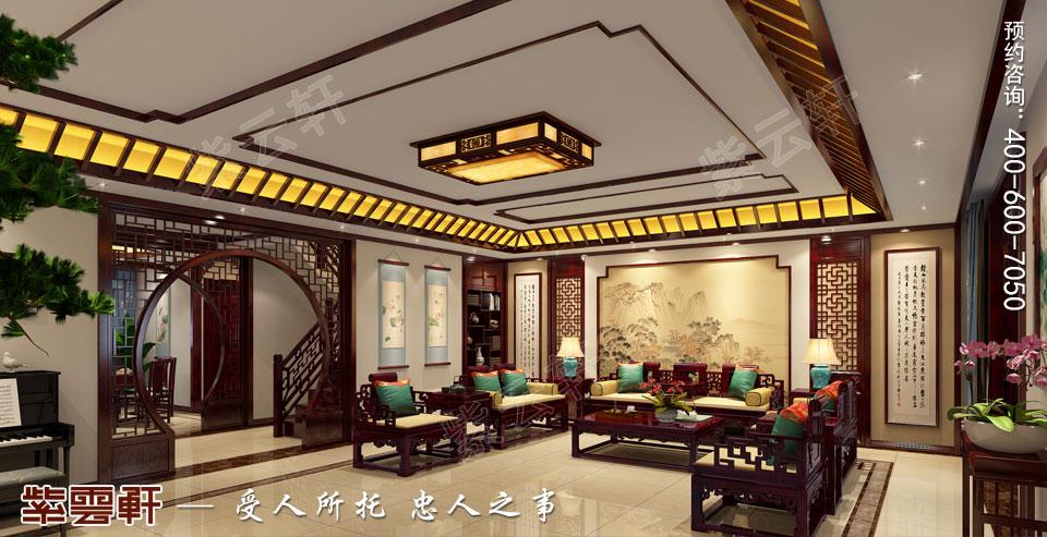 简约中式装修客厅效果图