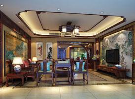 扬州复式楼简约古典中式装修效果图 雅室兰香,其乐融融