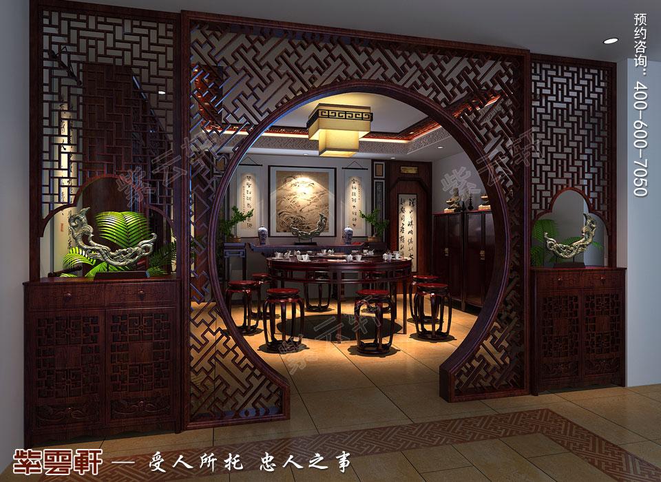 复式楼餐厅简约现代中式装修效果图