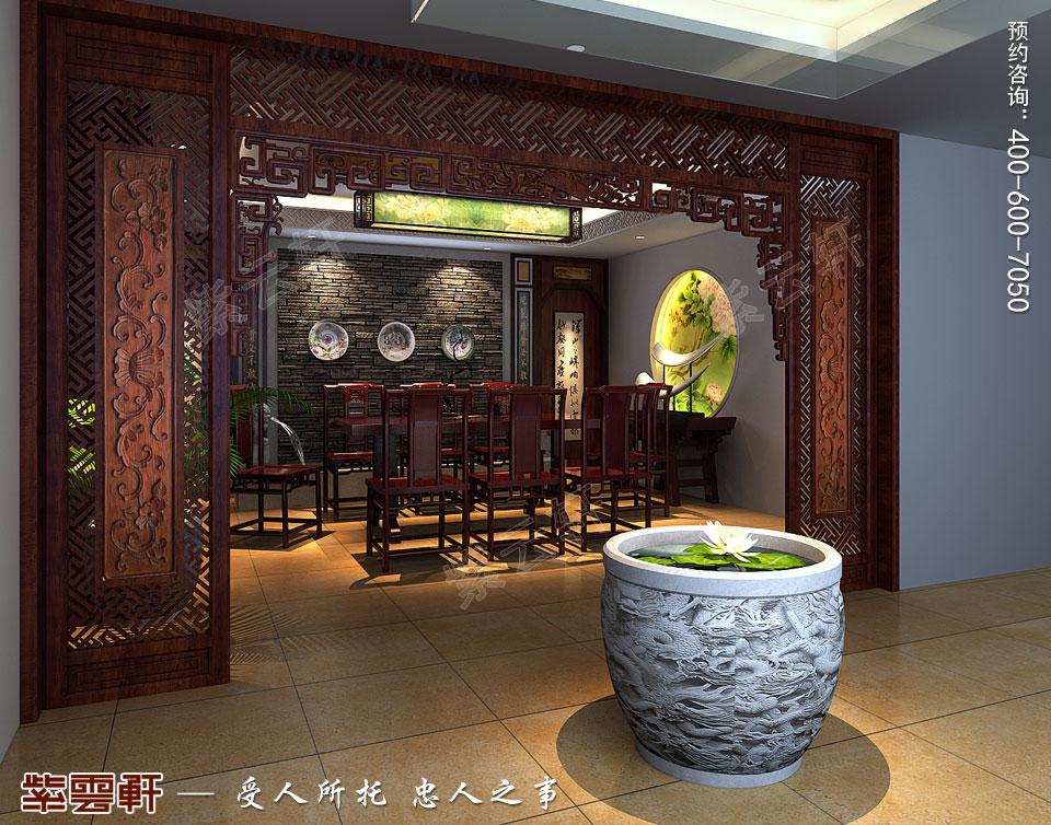 复式楼茶室简约现代中式装修效果图