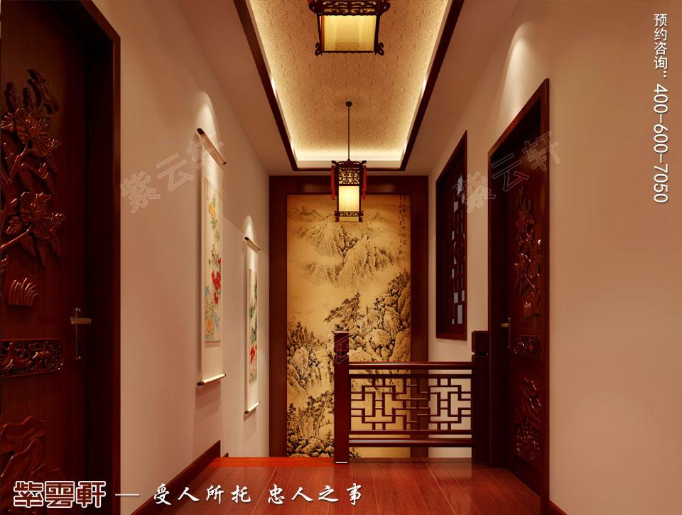 复式楼楼梯现代中式装修效果图