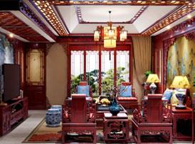 湖北十堰顶楼复式简约复古中式风格装修案例,许你一处沉稳高雅的家居环境