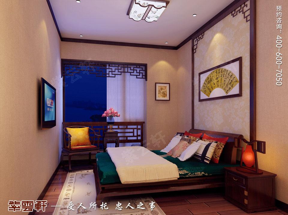 复式楼简约古典中式客卧装修效果图