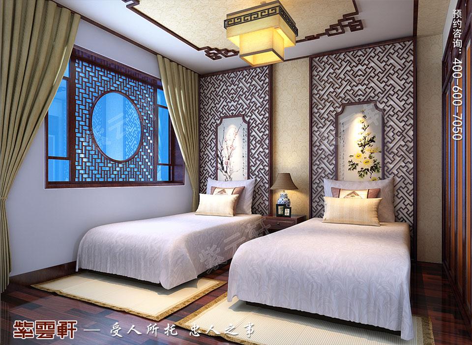 复式楼客房简约现代中式装修效果图