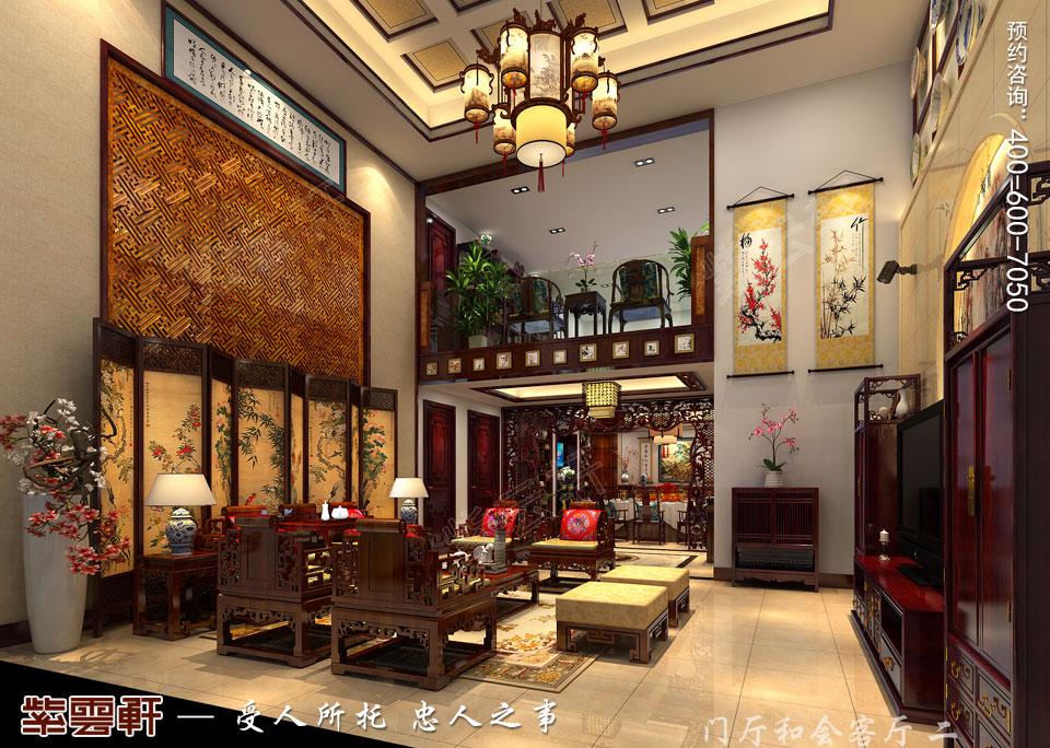 复式楼客厅新中式风格装修图片