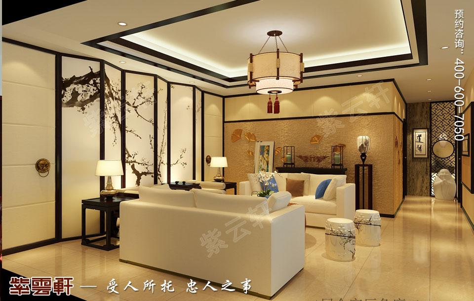 复式楼会客厅新中式风格装修图片