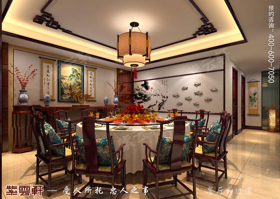 复式楼餐厅新中式风格装修图片