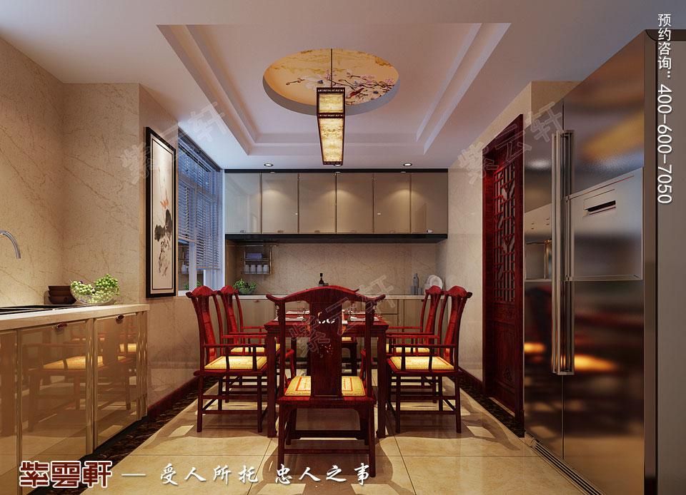 复式楼大宅餐厅新中式风格装修图片