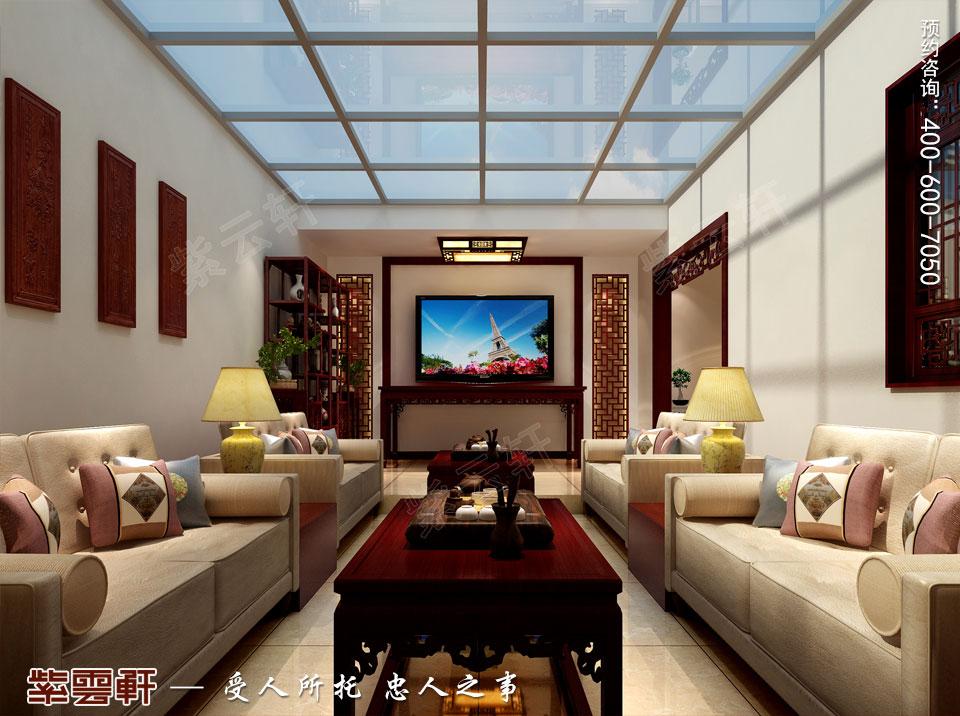 复式楼大宅阳光房新中式风格装修图片