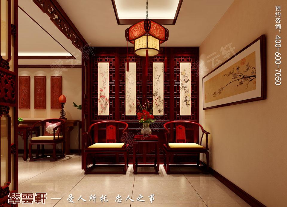 复式楼大宅门厅新中式风格装修图片