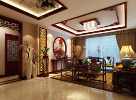 北京通州于家务复式楼大宅新中式风格装修图片 一种古色古香的韵味感