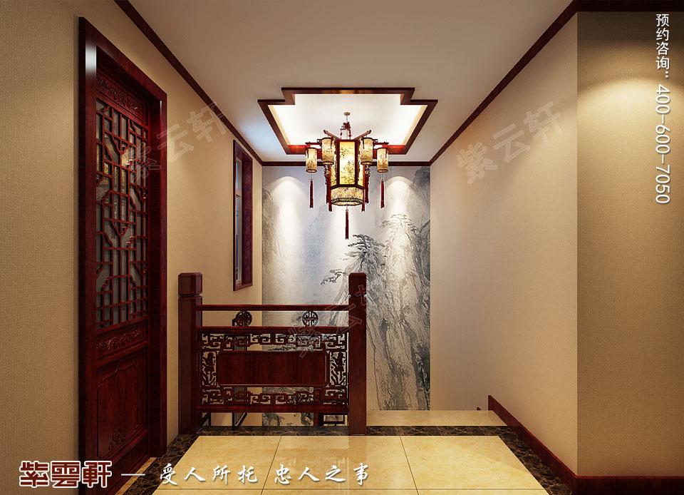 复式楼大宅楼梯新中式风格装修图片