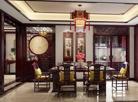 中式装修风格的别墅装修,剪不断的浓浓古韵乡情