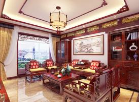 河间复式大宅现代中式风格装修案例 古韵华彩,清朗安宁