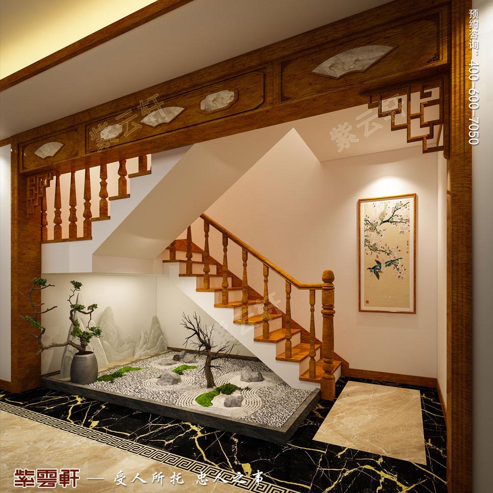 楼梯间简约中式装修效果图