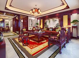 珲春慕总复式楼简约中式装修效果图,雅致富贵 神气卓然