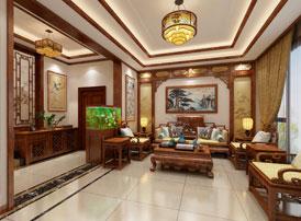 安阳林州复式楼中式装修设计效果图 优雅出尘 清美绝伦