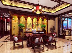 天津复式楼中式装修效果图  无一处不雅致