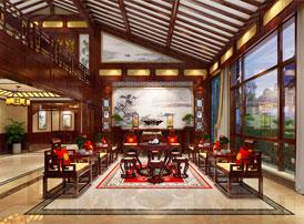 吉林长春顶楼复式中式装修效果图  典雅如古 富贵满室