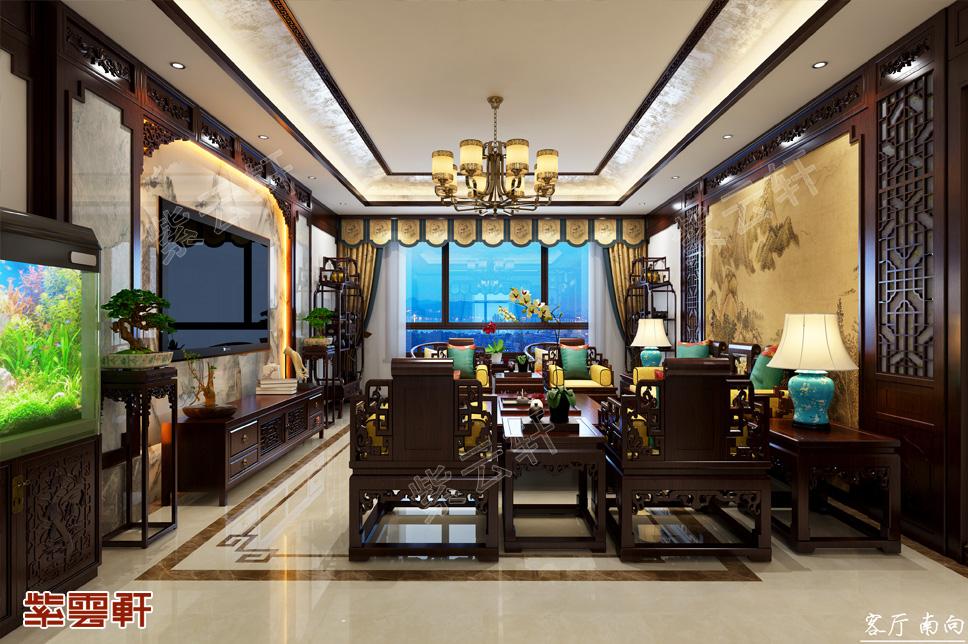 山东青岛复式楼简约古典中式风格装修效果图  清和雅致 别具一格