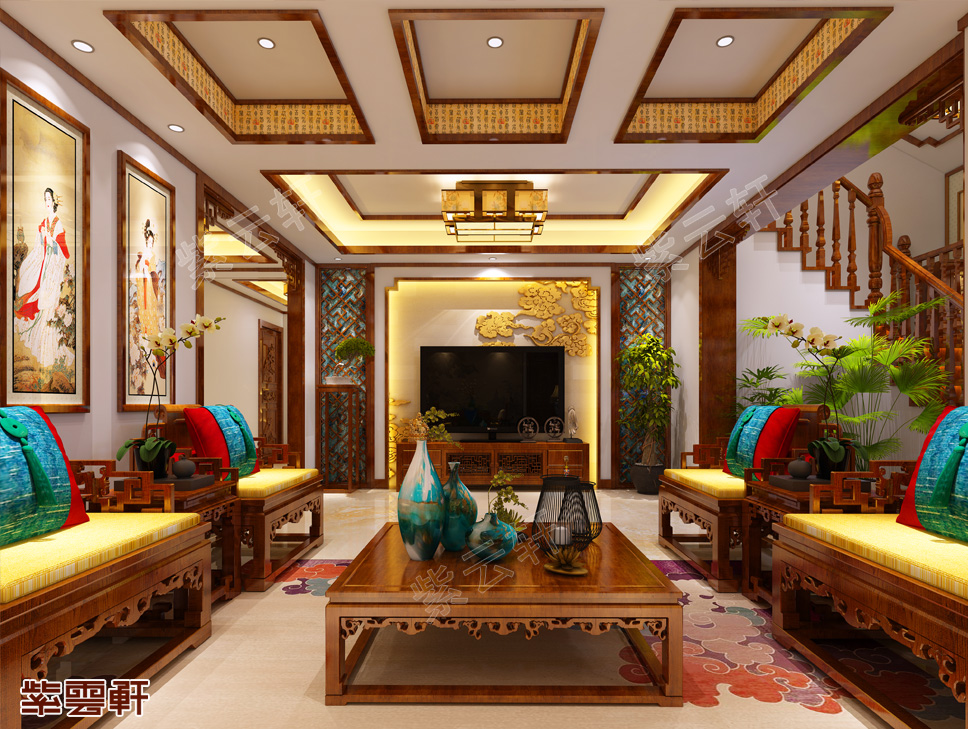 内蒙王先生复式楼中式装修效果 清新雅致 古典风韵