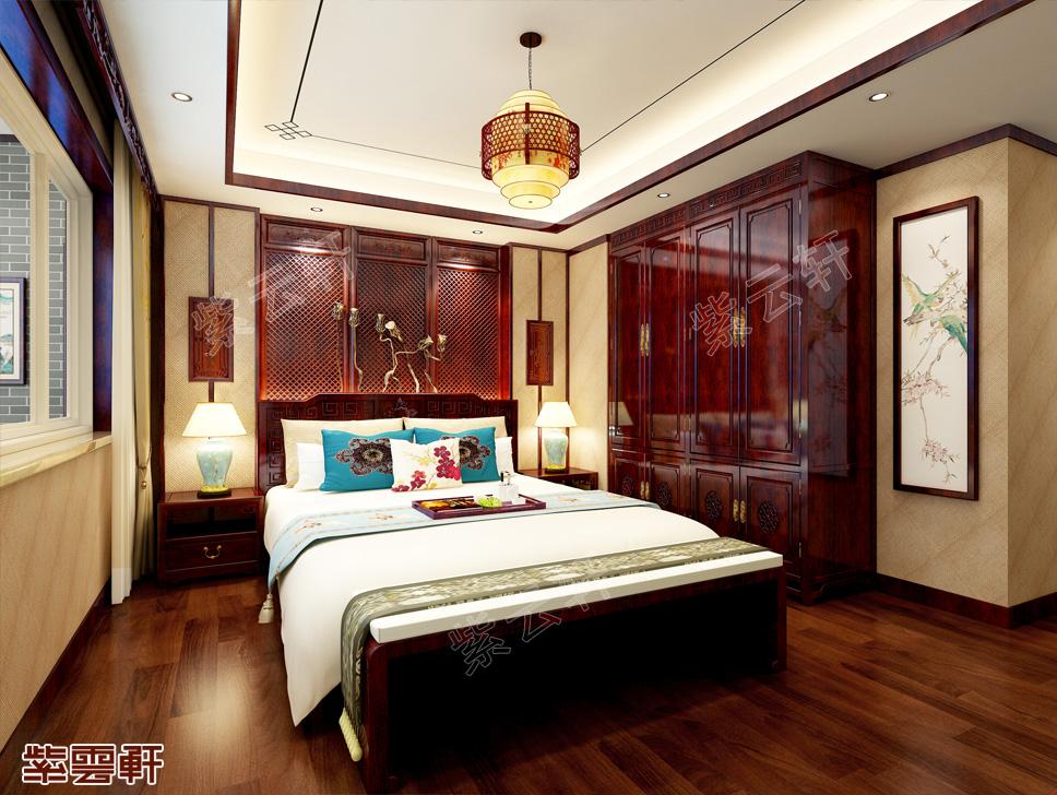 福建永安市许先生独栋别墅中式装修设计效果图 意会古典之美