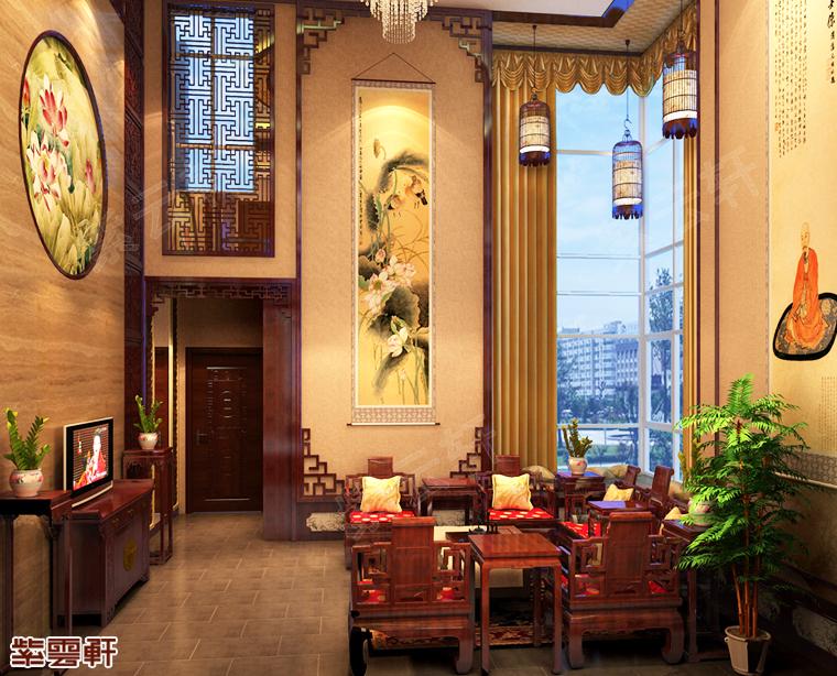 安徽滁州市别墅中式装修 水墨淡雅不负韶华
